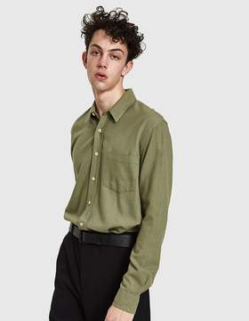 Our Legacy Classic Shirt in Light Olive Silk