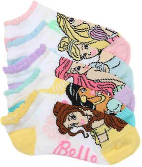 Disney Girls Princess Girls No Show Socks - 5 Pack