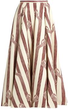 Emilia Wickstead Eleanor linear-print midi skirt