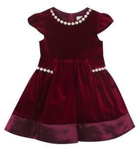 Rare Editions Little Girl's Velvet Jewel Dress