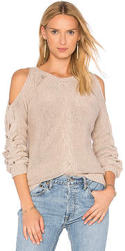 Autumn Cashmere Cable Cold Shoulder Sweater