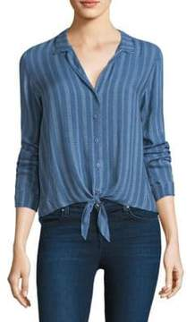 Bella Dahl Tie Front Striped Shirt