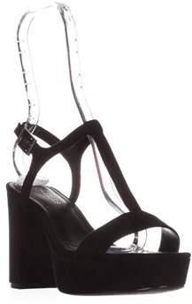 Charles by Charles David Miller T-strap Platform Sandals, Black.