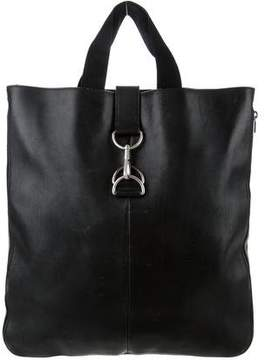 Saint Laurent Leather Tote - BLACK - STYLE