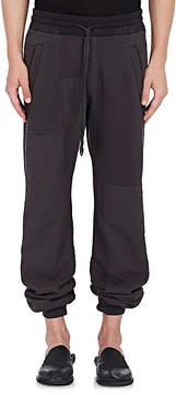 Haider Ackermann Men's Patchwork Cotton Terry Jogger Pants