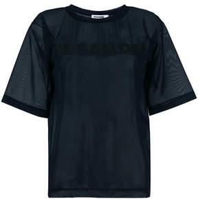 Jil Sander sheer logo print T-shirt