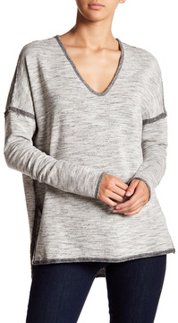 Fifteen-Twenty Fifteen Twenty V-Neck Raw-Edge Sweatshirt
