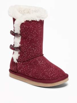Old Navy Faux-Fur-Lined Toggle Boots for Toddler Girls