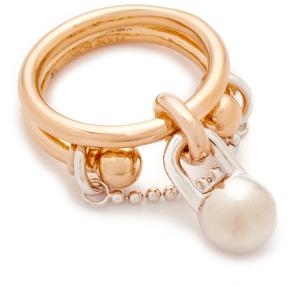Eddie Borgo Double Barbell Ring