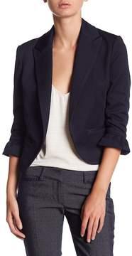 Atelier Luxe Ruffle Sleeve Cropped Blazer (Petite)