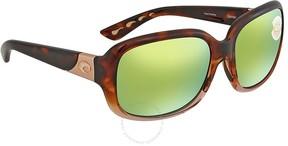 Costa del Mar Green Mirror Polarized Square Sunglasses GNT 120 OGMP