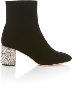 Rochas Crystal Heel Booties