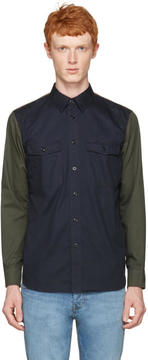 Rag & Bone Navy Contrast Shirt
