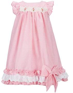 Laura Ashley London Little Girls 2T-6X Gingham-Printed A-Line Dress