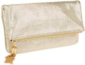 Isaac Mizrahi Live! Bridgehampton Metallic Leather Clutch