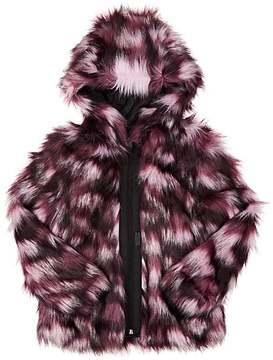 Karl Lagerfeld FAUX-FUR HOODED COAT