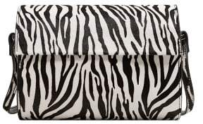 MANGO Animal print leather bag