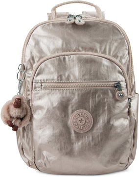 Kipling Seoul Small Backpack - SPARKLY GOLD - STYLE