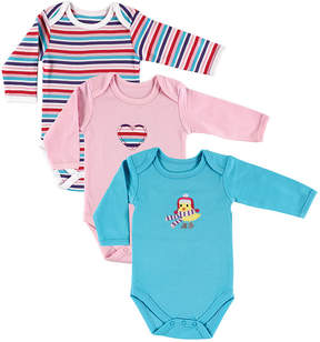 Hudson Baby Turquoise Chick Long-Sleeve Bodysuit Set - Infant