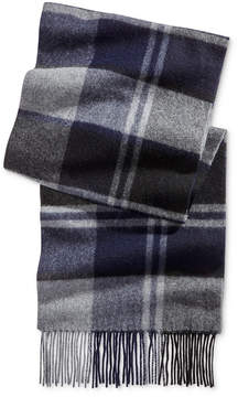 Club Room Men's Offset Plaid Cashmere Scarf, Created for Macy's