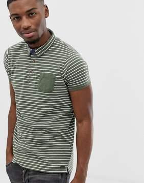 Brave Soul Stripe Polo Shirt