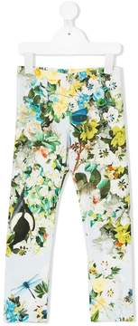 Roberto Cavalli floral print leggings