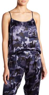 ATM Anthony Thomas Melillo Camo Silk Tank