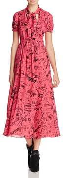 Burberry Antonina Printed Midi Dress