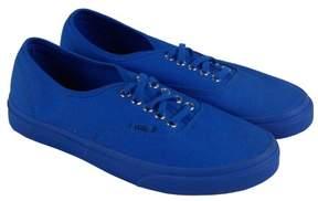 Vans Unisex Authentic Decon (Leather) Zephyr Blue/Bla Skate Shoe 6.5 Men US / 8 Women US