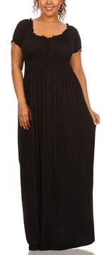 Canari Black Empire-Waist Maxi Dress - Plus