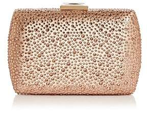 Sondra Roberts Small Stone-Embellished Satin Box Clutch
