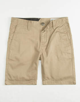 Volcom Frickin Drifter Khaki Boys Shorts