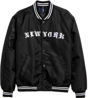 H&M Embroidered Baseball Jacket