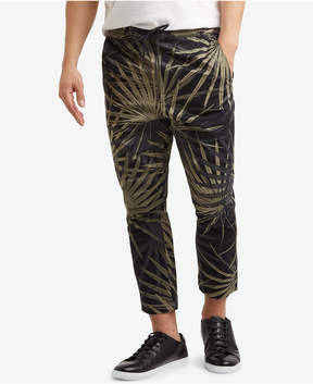 Kenneth Cole Reaction Men's Cropped Stretch Palm-Print Drawstring Pants