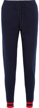 Chinti and Parker Love Heart Cashmere Track Pants - Midnight blue