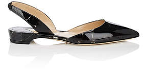 Paul Andrew Women's Rhea Patent Leather Slingback Flats