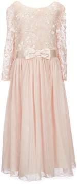 Bonnie Jean Big Girls Plus 14.5-20.5 Sequin Flower Bonaz Dress