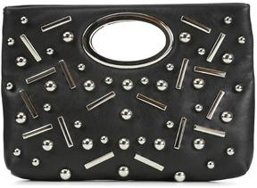Women's PANDORA - Embellished Calf Leather Clutch