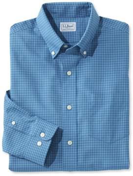 L.L. Bean L.L.Bean Wrinkle-Free Mini-Check Shirt, Slightly Fitted