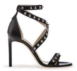 HUGO BOSS Studded Leather Sandal Shoreditch Sandal 8.5 Black