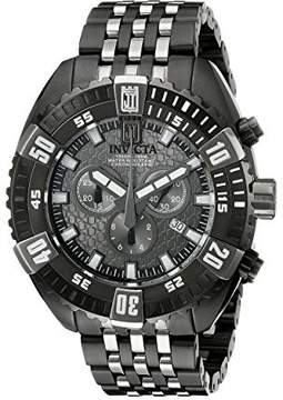 Invicta Men's 16303BWB Jason Taylor Black Ion-Plated Stainless Steel Watch