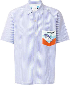 Paul Smith Tuna print pocket striped shirt