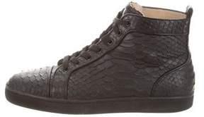 Christian Louboutin Louis Flat Python Sneakers