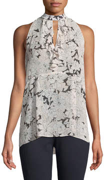 Laundry by Shelli Segal Floral Halter-Neck Sleeveless Blouse