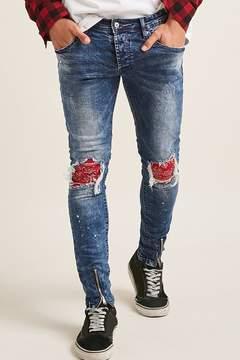 21men 21 MEN Project Paris Patched Jeans
