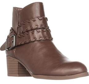 Style&Co. Sc35 Dyanaa Stitched Harness Ankle Boots, Barrel.