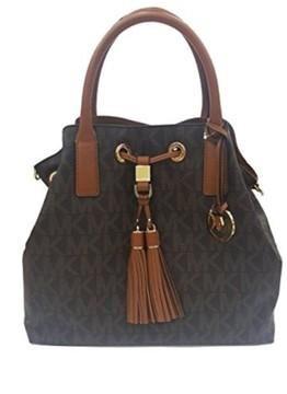 Michael Kors Camden Brown GL Brown Signature Satchel Handbag - ONE COLOR - STYLE