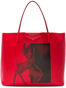 Givenchy Large Bambi Antigona Shopping Bag in Red.
