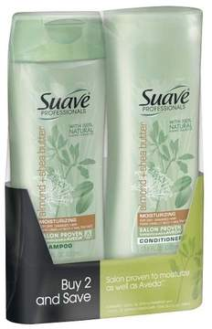 Suave Professionals Almond and Shea Butter Shampoo and Conditioner - 12.6oz,pk of 2