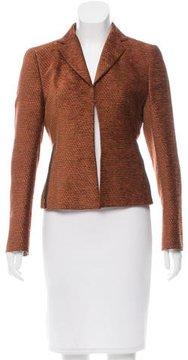 Akris Leather-Trimmed Velvet Jacket